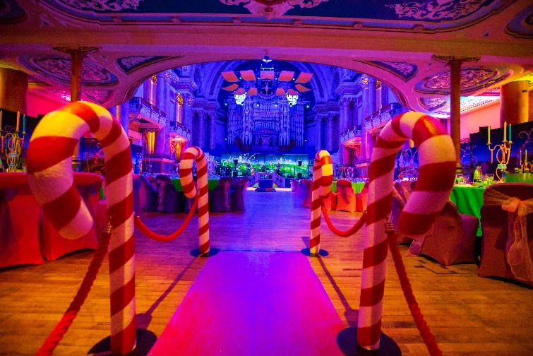 Chocolate Factory Themed Event - Candy Cane Walkway