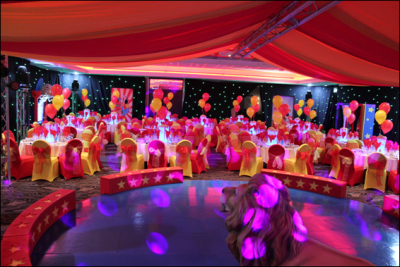 Colourful circus venue